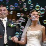 Bolhas de sabão para casamentos