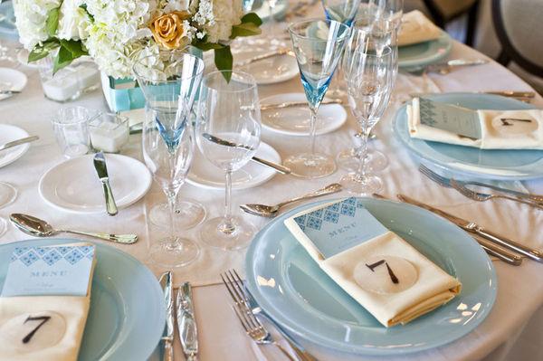 Respeitar as marcações da mesa de casamento