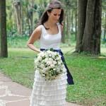Vestido de noiva para quem algo com saia de crochê.