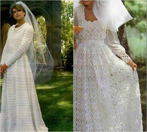 Vestido noiva de croche