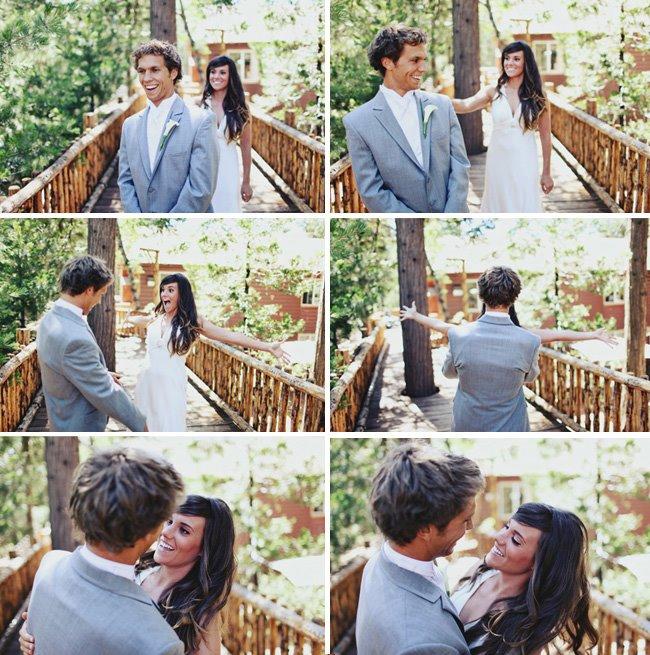 Ninguém melhor que o noivo para dizer o quanto a noiva está linda (Foto: Divulgação)