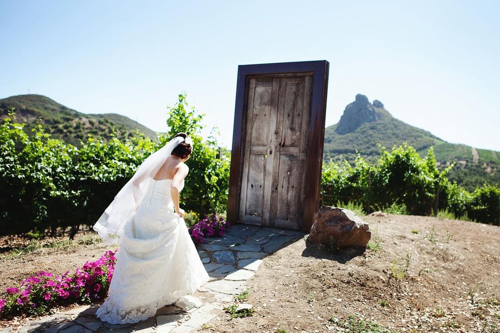 Se você ver uma porta do meio do nada, com certeza um 'first look' pode acontecer ali a qualquer momento (Foto: Divulgação)