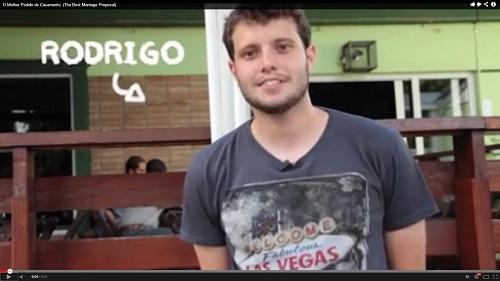 Publicitário monta vídeo para pedir namorada em casamento (Foto: Divulgação)