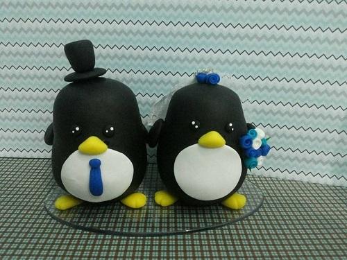 Aposte nos pinguins em seu buquê.