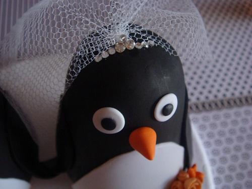Buquês de pinguins para jogar para as solteiras.