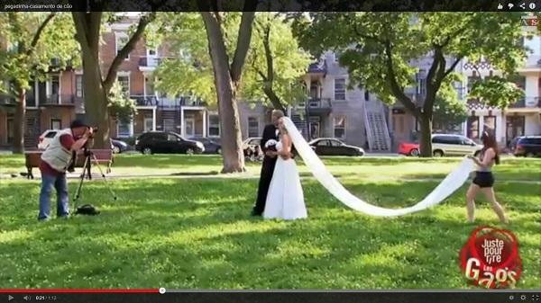 Pegadinha com casal de casamento (Foto: Divulgação)