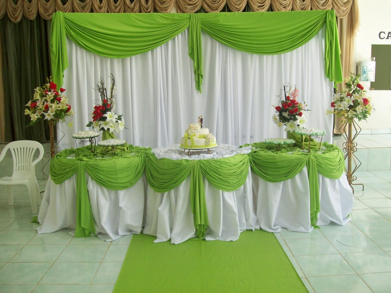 Decoração de casamento branco e verde6  Help Casamentos -> Decoracao De Banheiro Para Casamento