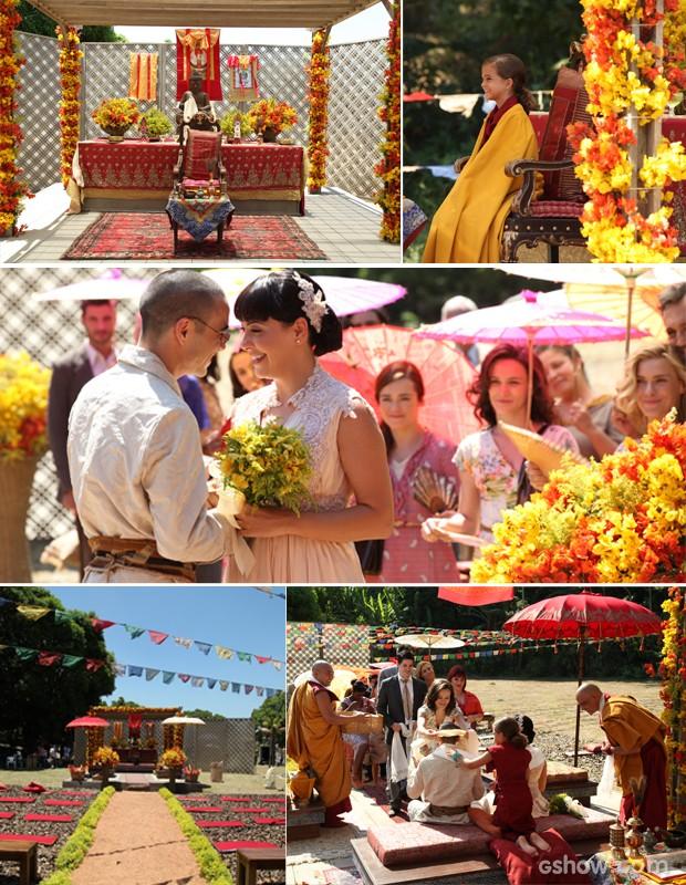 Coletânea de imagens do casamento em Joia Rara (Foto: Divulgação)