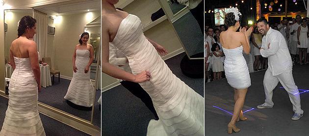Noiva mostra como perdeu 15 quilos (Foto: Divulgação)
