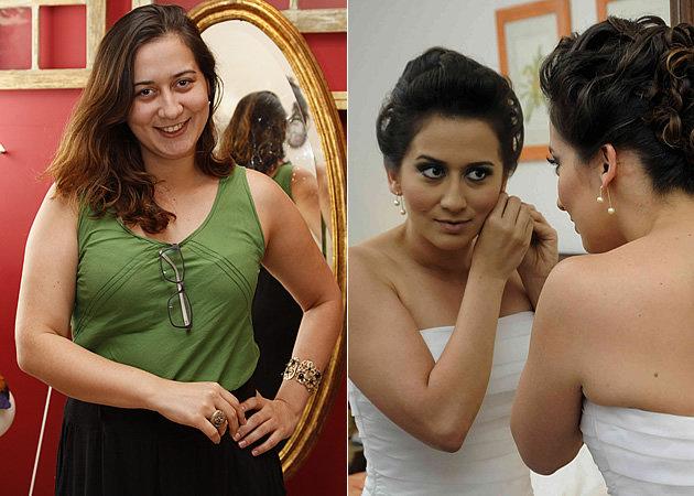 Bárbara antes e depois do emagrecimento (Foto: Divulgação)