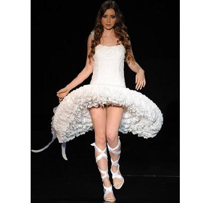 Vestido de noiva bizarro não falta nesse mundo (Foto: Divulgação)