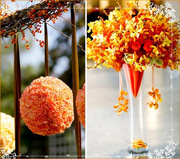 Decoração  de casamento com laranja e amarelo (Foto: Divulgação)