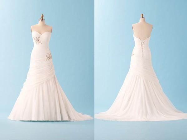 Vestido de noiva com saia mais contida (Foto: Divulgação)