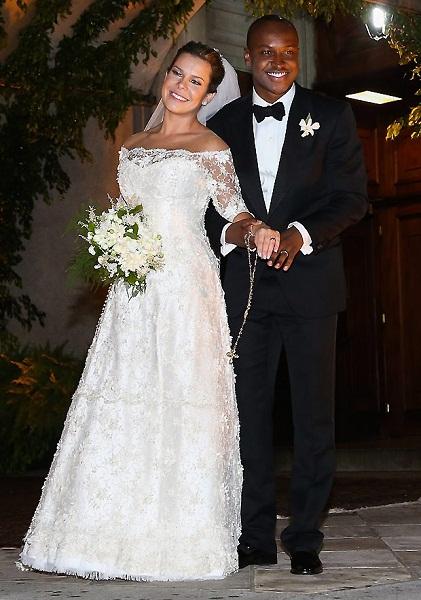 Vestido de noiva das famosas Fernanda Souza