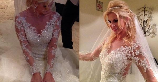 Val Marchiori desfila com seu vestido de noiva diferenciado (Foto: Divulgação)