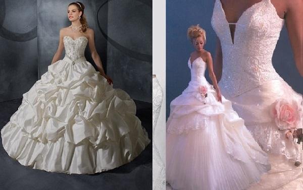 Modelos de vestido de noiva como de princesa (Foto: Divulgação)