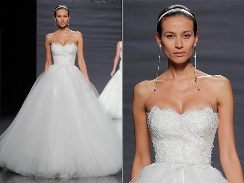 Modelos de vestido de noiva tomara que caia (Foto: Divulgação)