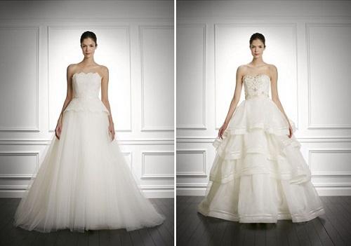 Modelos de vestido de noiva rodado (Foto: Divulgação)