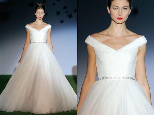 Modelos de vestido de noiva com saia esvoaçante (Foto: Divulgação)