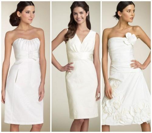 Modelos de vestido de noiva com saia menos rodada (Foto: Divulgação)