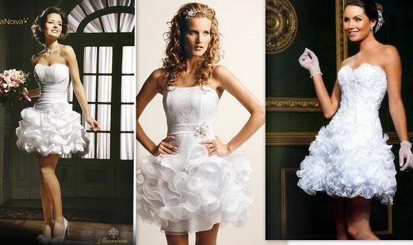 Modelos de vestido de noiva curto (Foto: Divulgação)