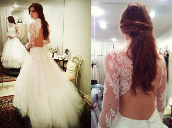Modelo de vestido de noiva com renda inspirado nas novelas (Foto: Divulgação)