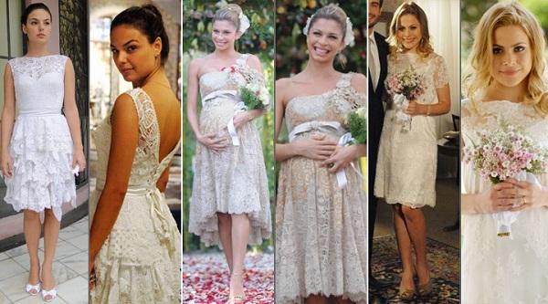 Modelos de vestido de noiva curto de novelas (Foto: Divulgação)