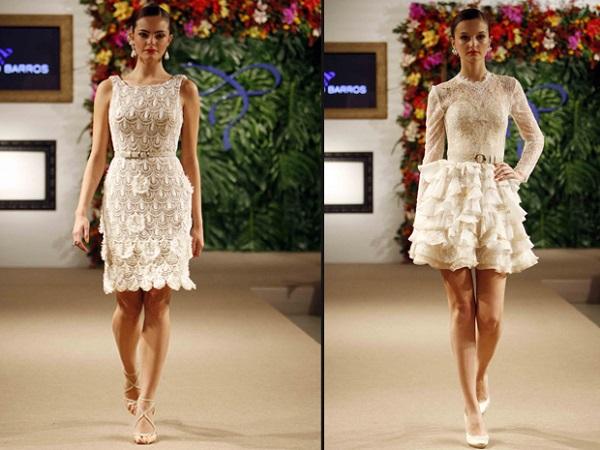 Modelos de vestido de noiva com renda (Foto: Divulgação)