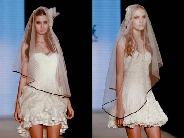 Modelos de vestido de noiva curtinho (Foto: Divulgação)