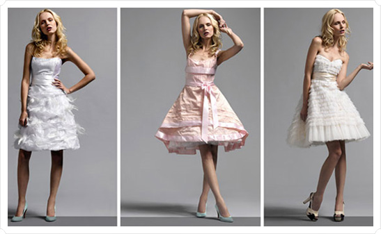 Modelos de vestido de noiva rodados (Foto: Divulgação)