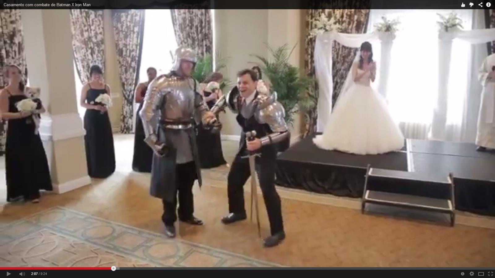 O vídeo de casamento engraçado: Batman X Iron Man está ganhando a internet (Foto: Divulgação)