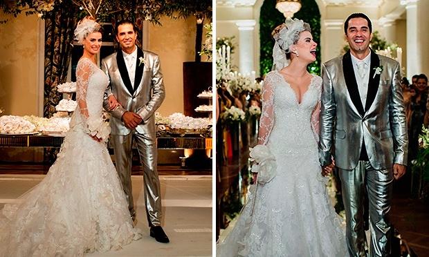 Rayanne Morais e seu vestido de noiva super comentado (Foto: Divulgação)