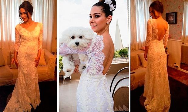 Fernanda Machado usou um dos vestidos de noiva mais lindo entre as famosas (Foto: Divulgação)