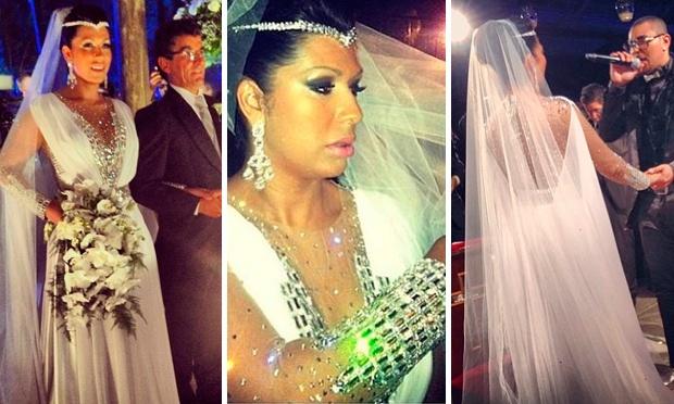 Ellen Cardos, a Mulher Moranguinho, quis um vestido de Cléopatra para o seu casamento com Naldo (Foto: Divulgação)