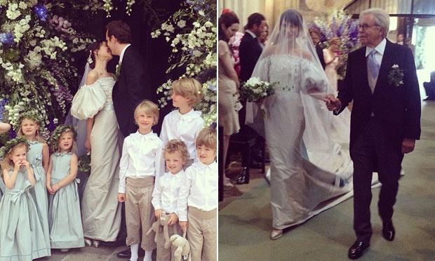 Caroline Sieber e seu vestido com mangas bufantes (Foto: Divulgação)