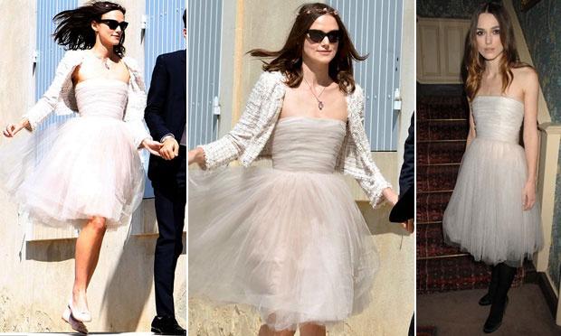 Keira Knightley e seu vestido de noiva bem diferente (Foto: Divulgação)