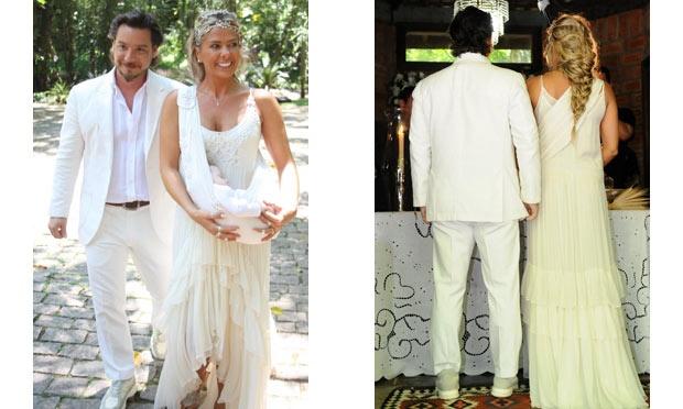 """Adriane Galisteu usou um vestido de noiva bem """"paz e amor"""" (Foto: Divulgação)"""
