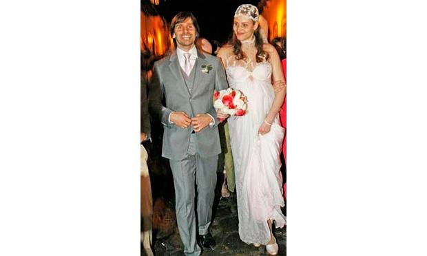 Fernanda Tavares em seu casamento com o ator Murilo Rosa (Foto: Divulgação)