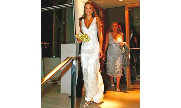 Ticiane Pinheiro em seu casamento com Justos (foto: Divulgação)