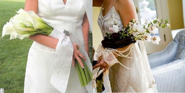 Buquês de noiva para casamentos braçal.