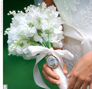 Bouquet de noiva branco.