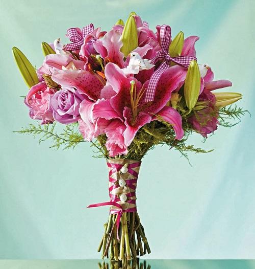 Bouquet de noiva lindo.