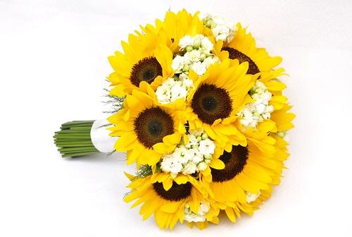 Bouquet de noiva amarelo.