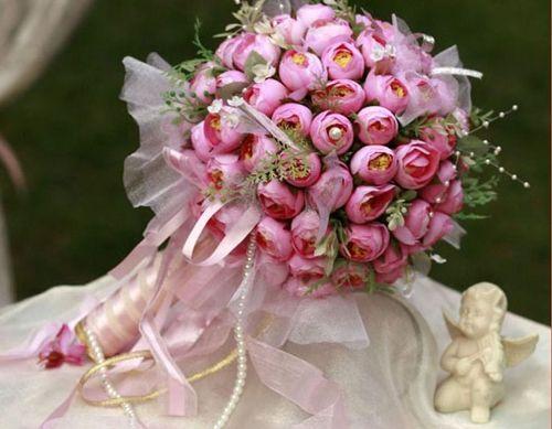 Bouquet de noiva cor de rosa.