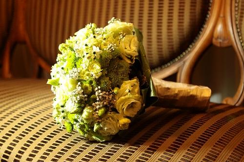 Bouquet de cor amarelo de noiva.