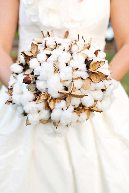 Buquê de casamento algodão