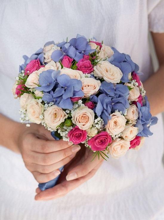 Bouquet de noiva em azul