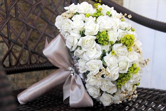 Buquê de noiva branco