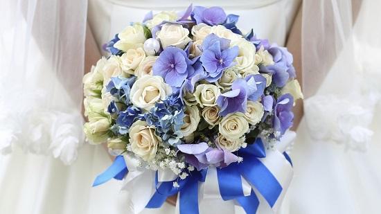 Buque de noiva lilás