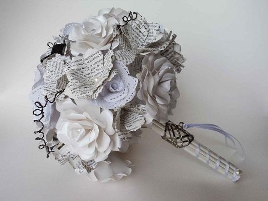 flores de papel buques de noiva